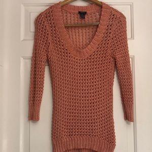 Peach/Coral Colored Sweater